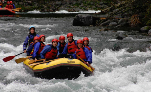 White water rafting near Taupo