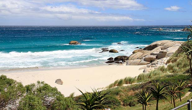 white sandy beach cape town