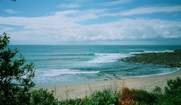 angourie surf break Yamba, Australia