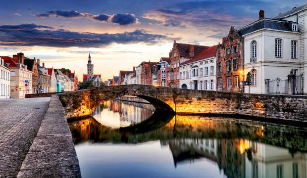 Bruges beautiful city of Belgium