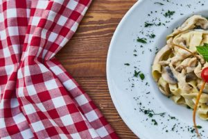 pasta with wine and mushrooms recipe
