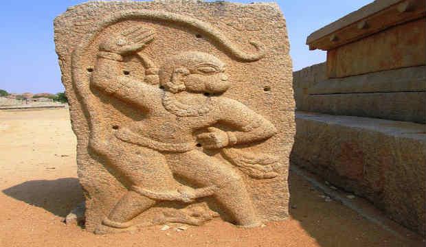 lord hanuman temple, hampi