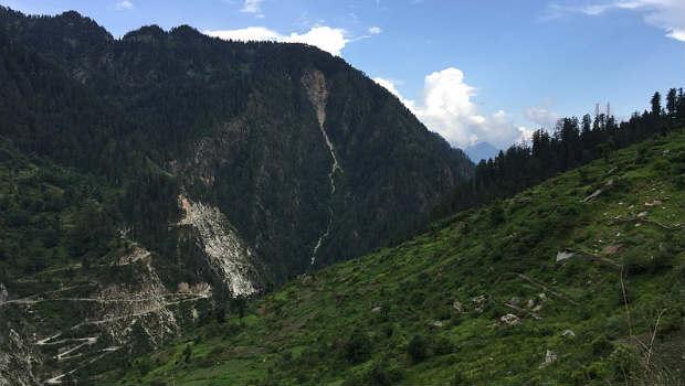 trekking to Malana village