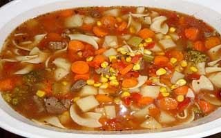 Veg beef soup