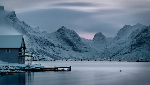 blue evening in Lofoten Islands, Norway