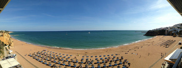 Albufeira beach in Algrave