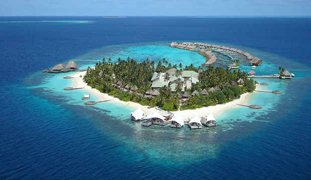 Maldives resort island