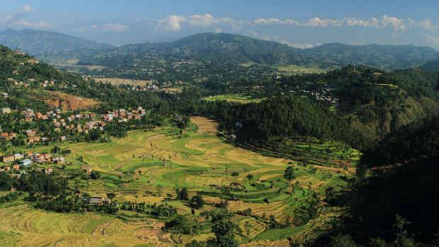 Balthali village in Nepal