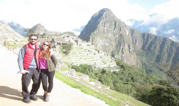 Mark and Mila at Huayna Picchu