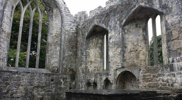 Muckross Abbey in Killarney, Ireland