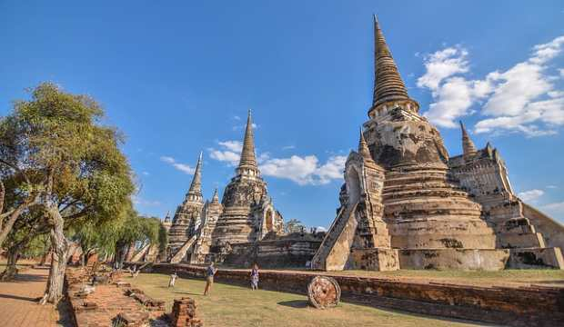 Wat Phra Si Sanphet temple in Thailand